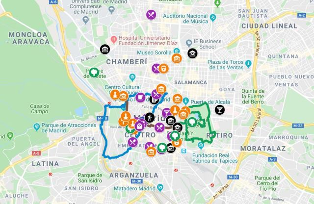 Your Interactive Map To Madrid Spain Best Regards From Far