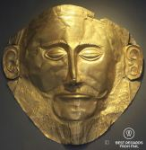 The golden death mask of Agamemnon, Archaeological Museum, Athens, Greece