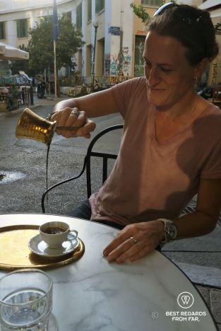 Greek coffee, Greek style, Athens, Greece