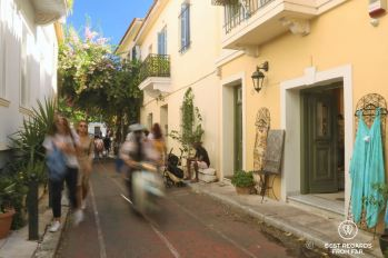 Strolling the streets of Plaka, Athens, Greece