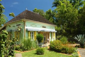Beautiful colonial architecture in Entre Deux on Reunion Island