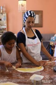 Preparing rootis Bo-Kaap cooking tour, Cape Town, South Africa