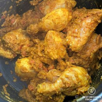 Chicken curry being cooked at the Bo-Kaap cooking tour, Cape Town, South Africa