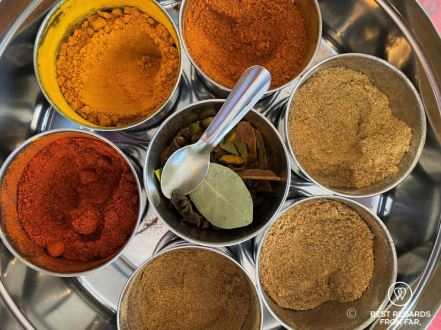 Freshly ground spices, Cape Malay cooking in Bo-Kaap, Cape Town, South Africa