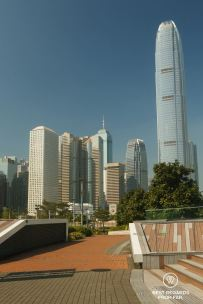 Architecture of the high-rise buildings of the Business district in Central, Hong Kong Island