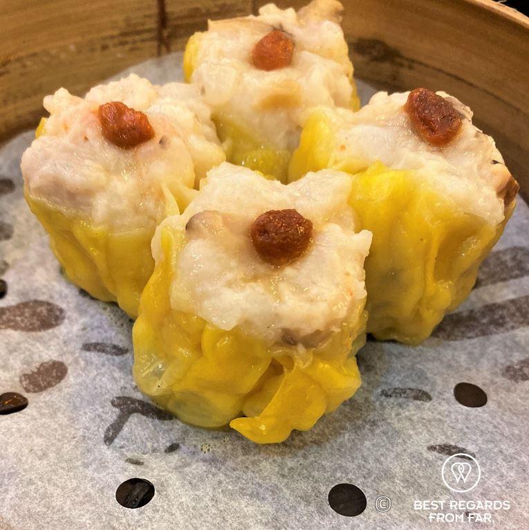 Dim sums at Tim Ho Wan Michelin-star restaurant, Kowloon, Hong Kong
