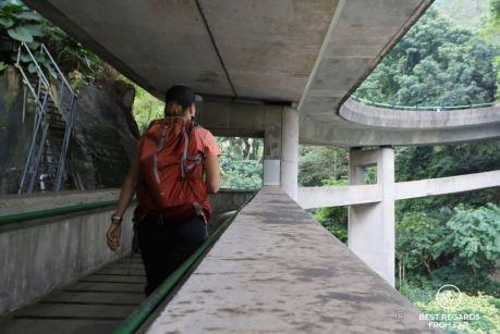 Approaching Conduit Road, hiking up Victoria Peak, Hong Kong Island