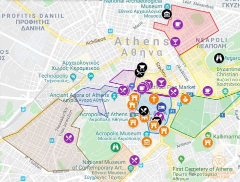 Interactive map Athens