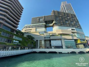 Luxurious shopping mall on the water in Kowloon, Hong Kong