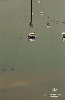 The Ngong Ping 360 from Tung Chung to the Big Buddha, Lantau Island, Hong Kong.