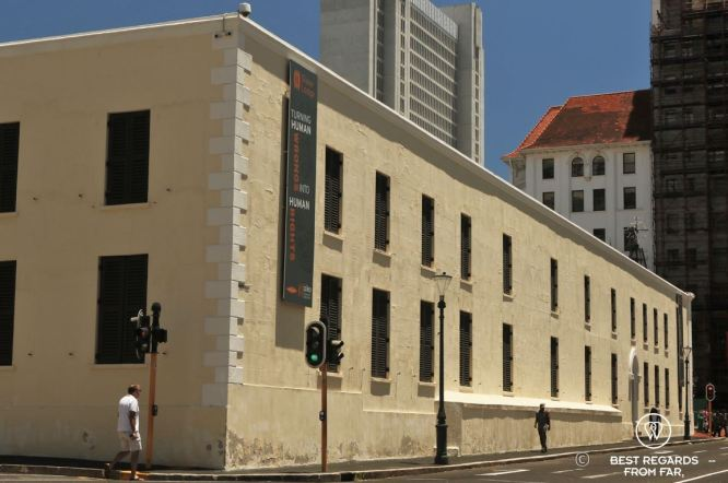 Architecture of the Slave Lodge landmark in Cape Town
