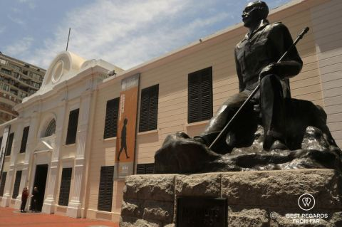 Colonial architecture of the Slave Lodge building in Cape Town, South Africa