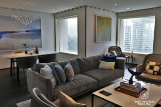 Interior decor of the luxurious suites of the Murray hotel in Hong Kong on the top floor
