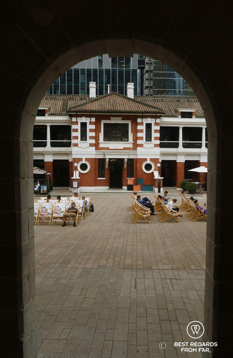 Tai Kwun museum courtyard, Hong Kong, Island