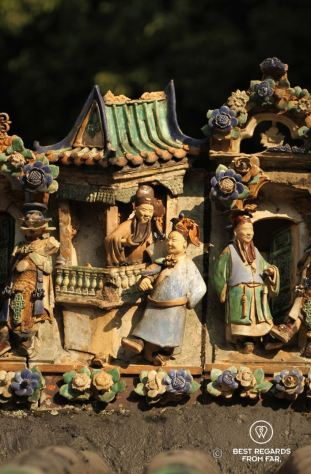 Detail of the Kwan Tai temple, Tai O fishing village, Lantau Island, Hong Kong