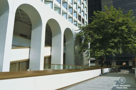The Murray hotel with the over a 100-year-old Cassia Javanica, Hong Kong Island