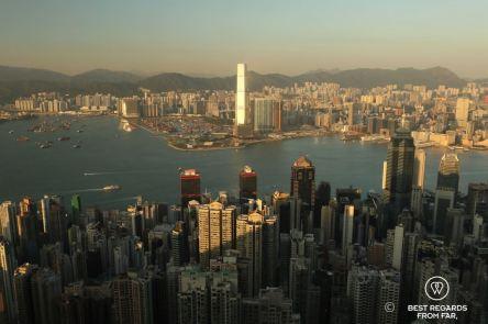 View on Hong Kong from Lugard Road, Victoria Peak, Hong Kong Island