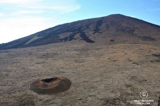 One of the craters on the volcano of Piton de la Fournaise, Reunion Island, France