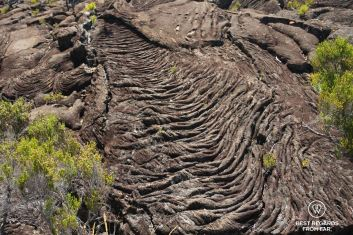Cooled down volcanic rock by the Furnace Peak volcano on Reunion Island