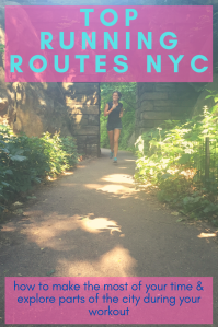 Top running routes NYC - Pinterest PIN - NYC - USA