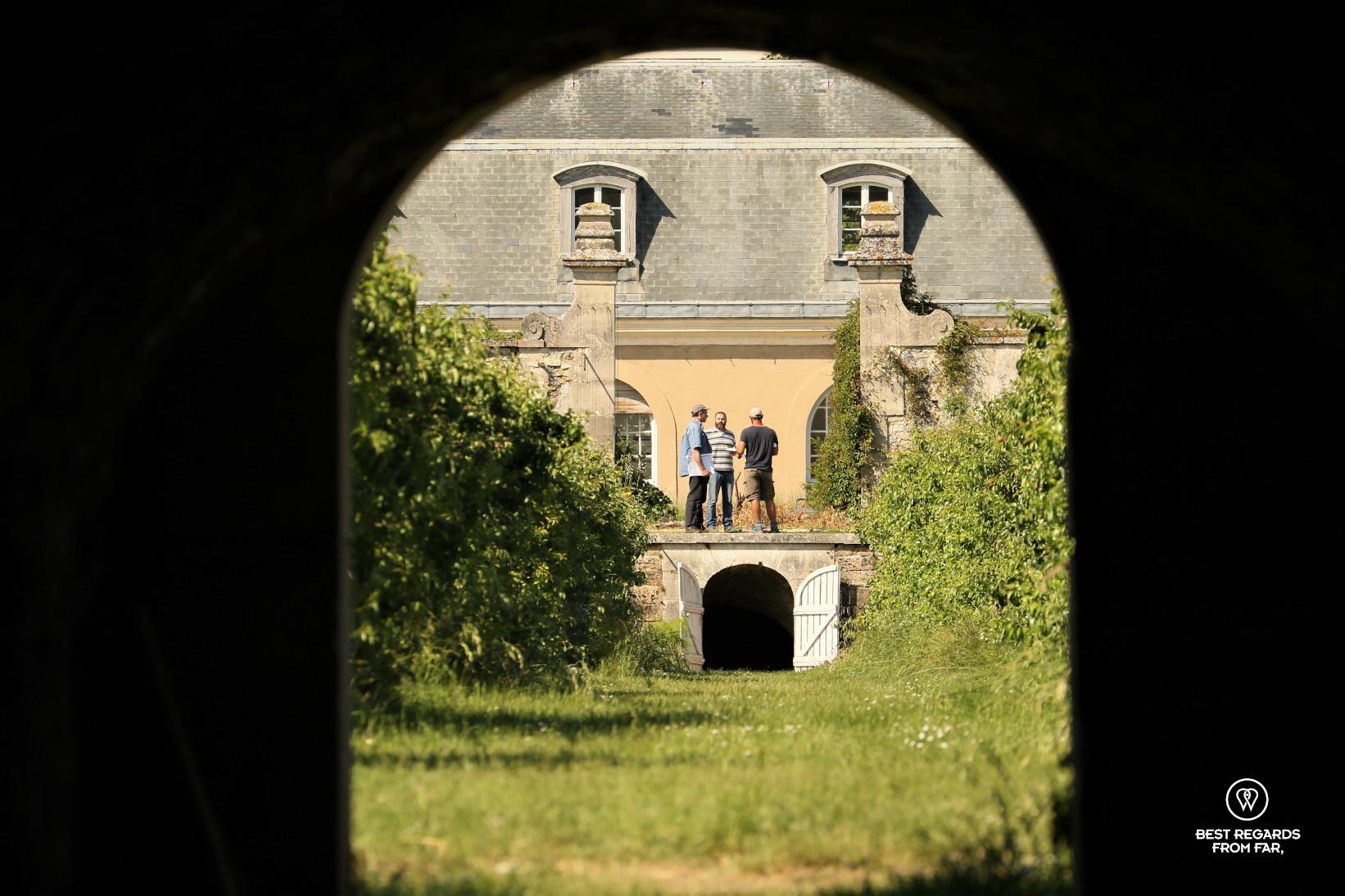 Antoine Jacobsohn and gardeners working at the King's Kitchen Garden in Versailles.