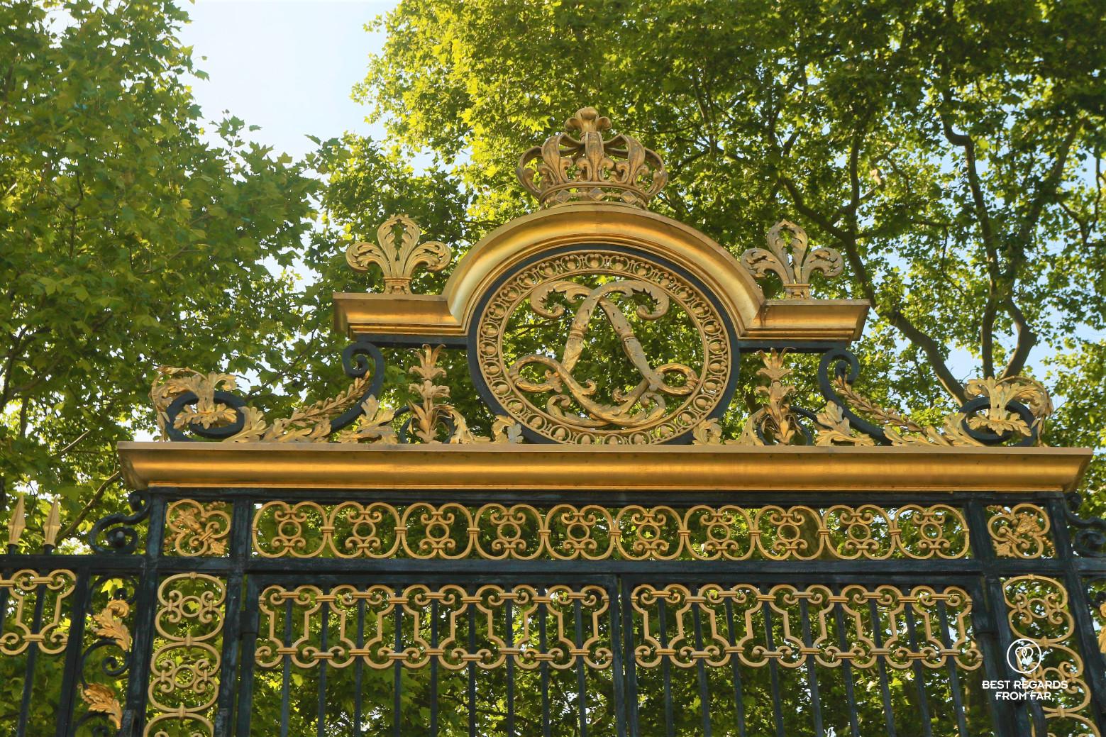 Gate to the King's Kitchen Garden in Versailles.