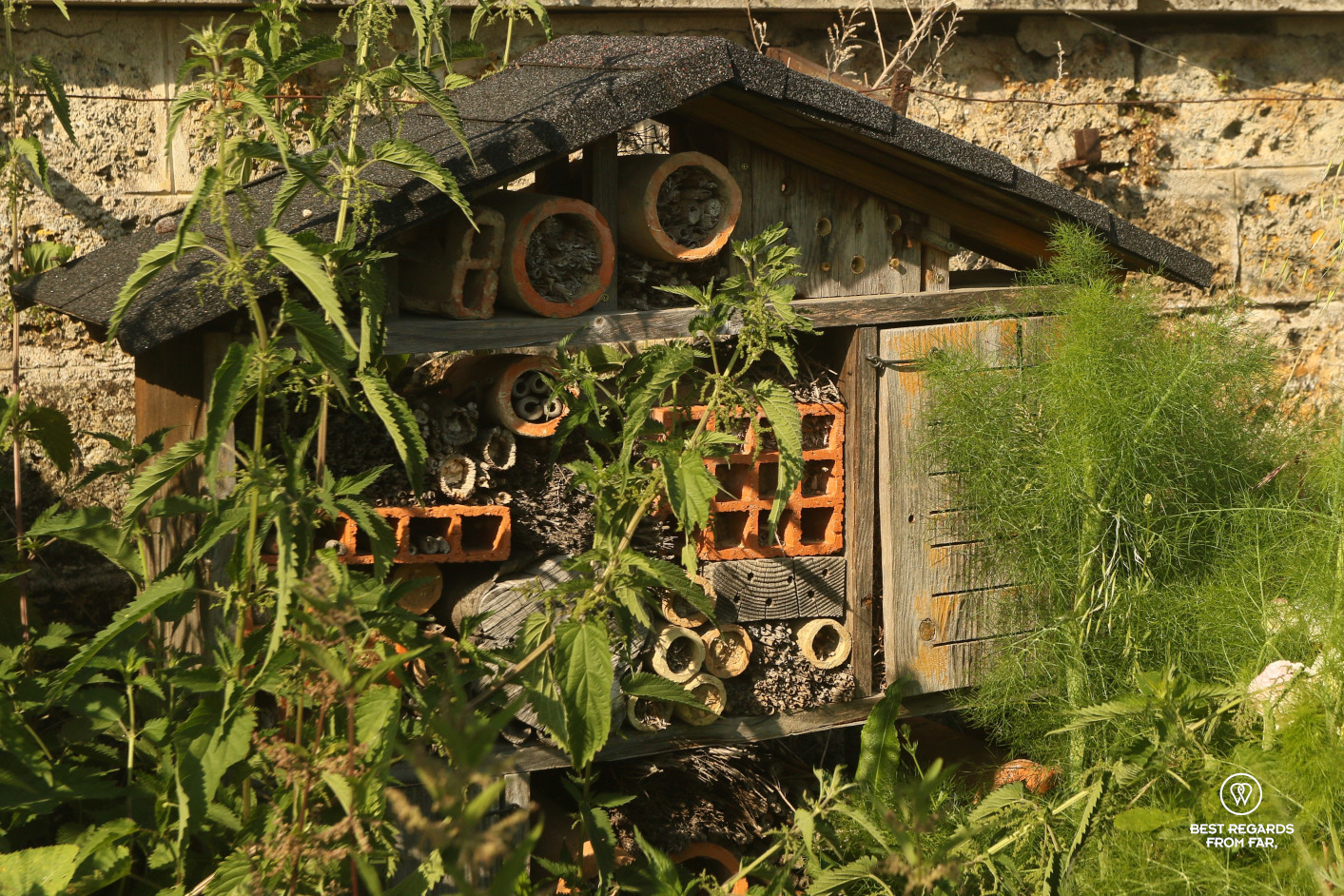 Insect house in the King's Kitchen Garden in Versailles.
