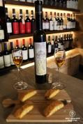 Italian sweet wine presented in the Cantina wine bar in Manerola, Cinque Terre