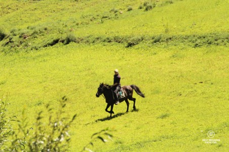 Eastern Lesotho village experience horseback riding-
