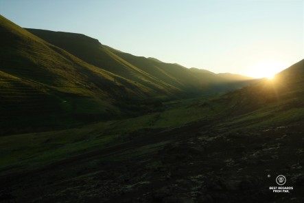 Sunrise over Eastern Lesotho