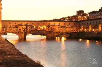 Ponte Vecchio at dusk, Florence, Italy.