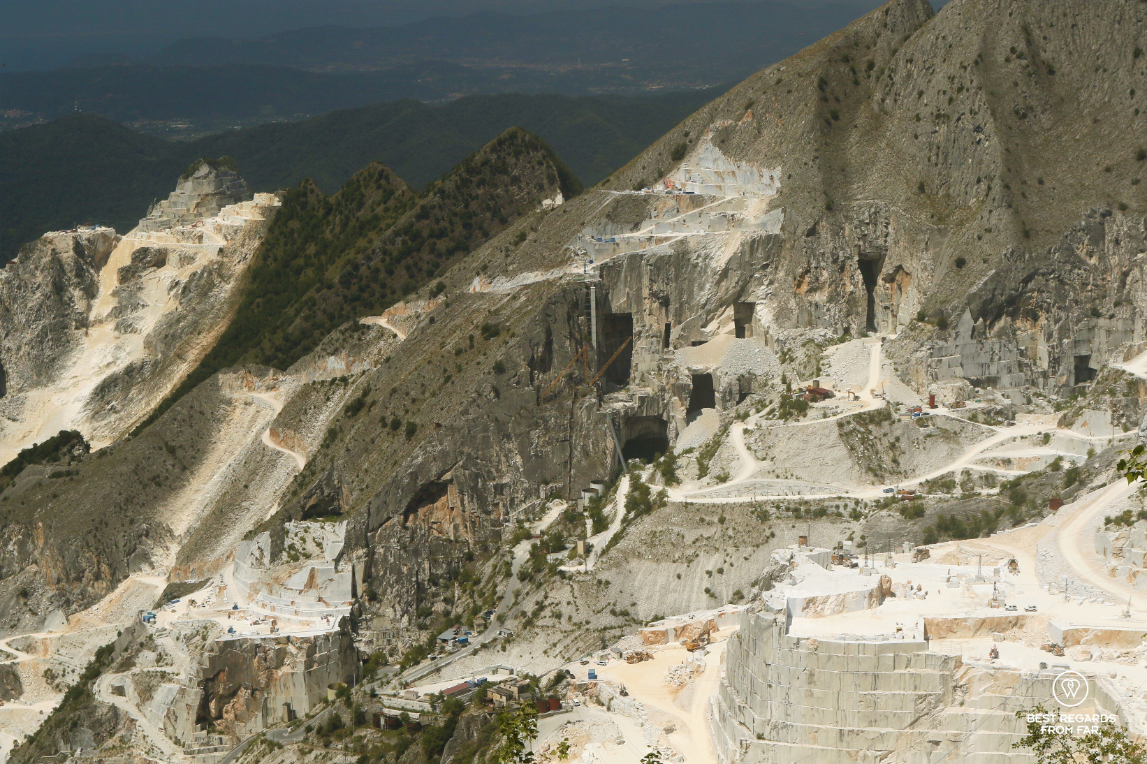 White Carrara marble quarries, Italy