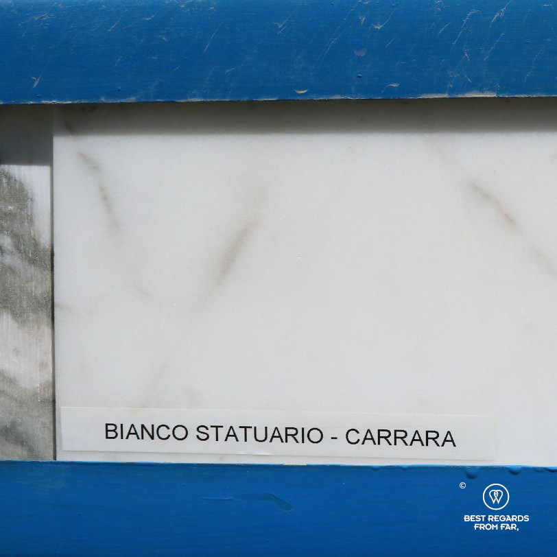 Example of Bianco Statuario, the best of the Carrara marble, Italy