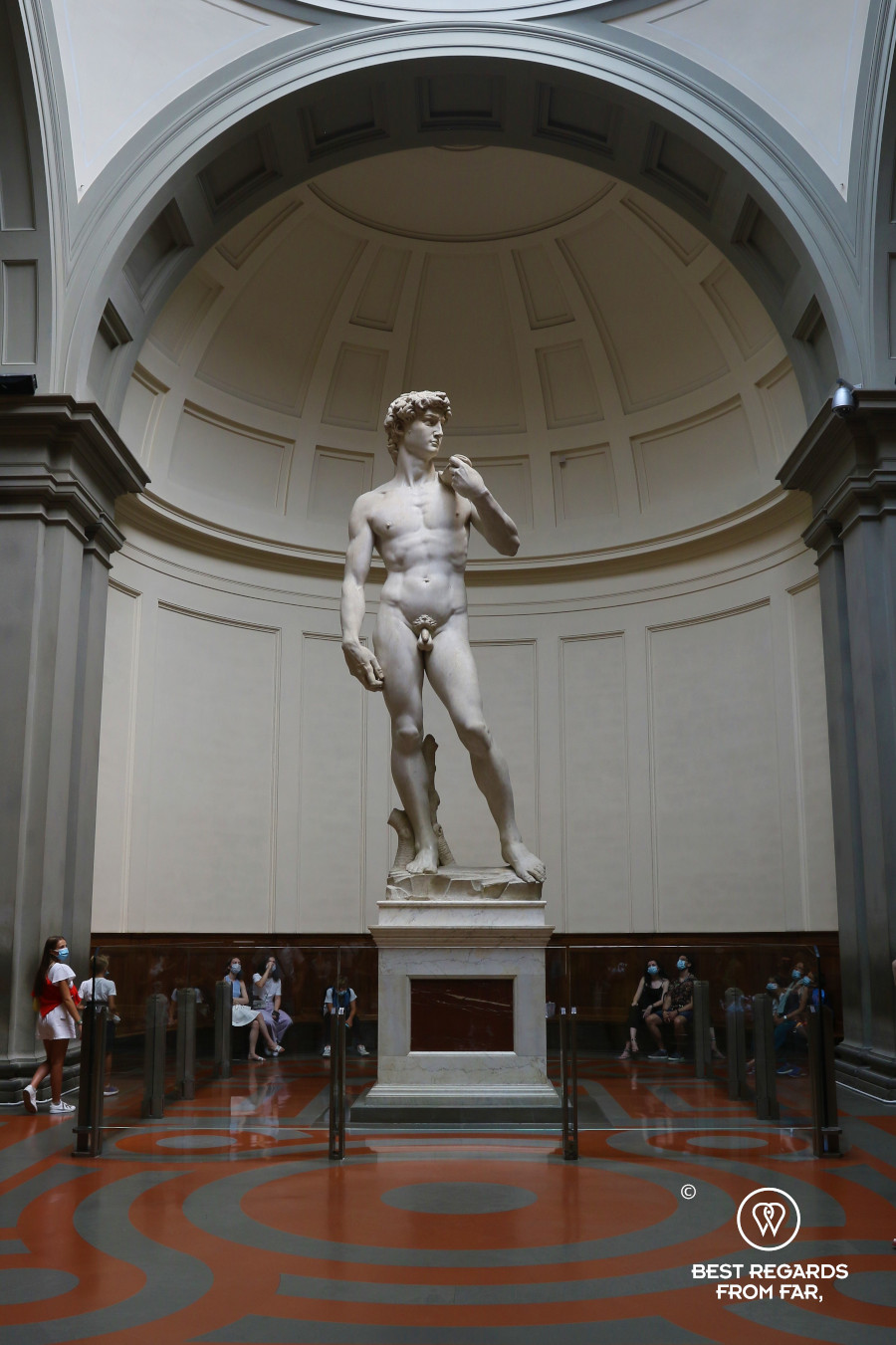 Marble statue David by Michelangelo in Florence