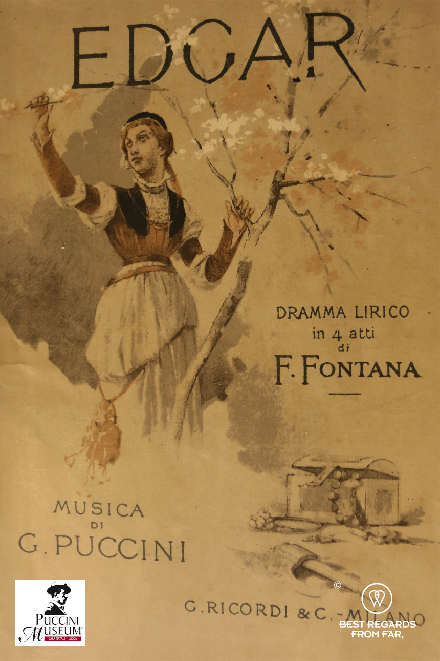 Edgar playbill, Puccini birth home museum, Lucca, Italy.