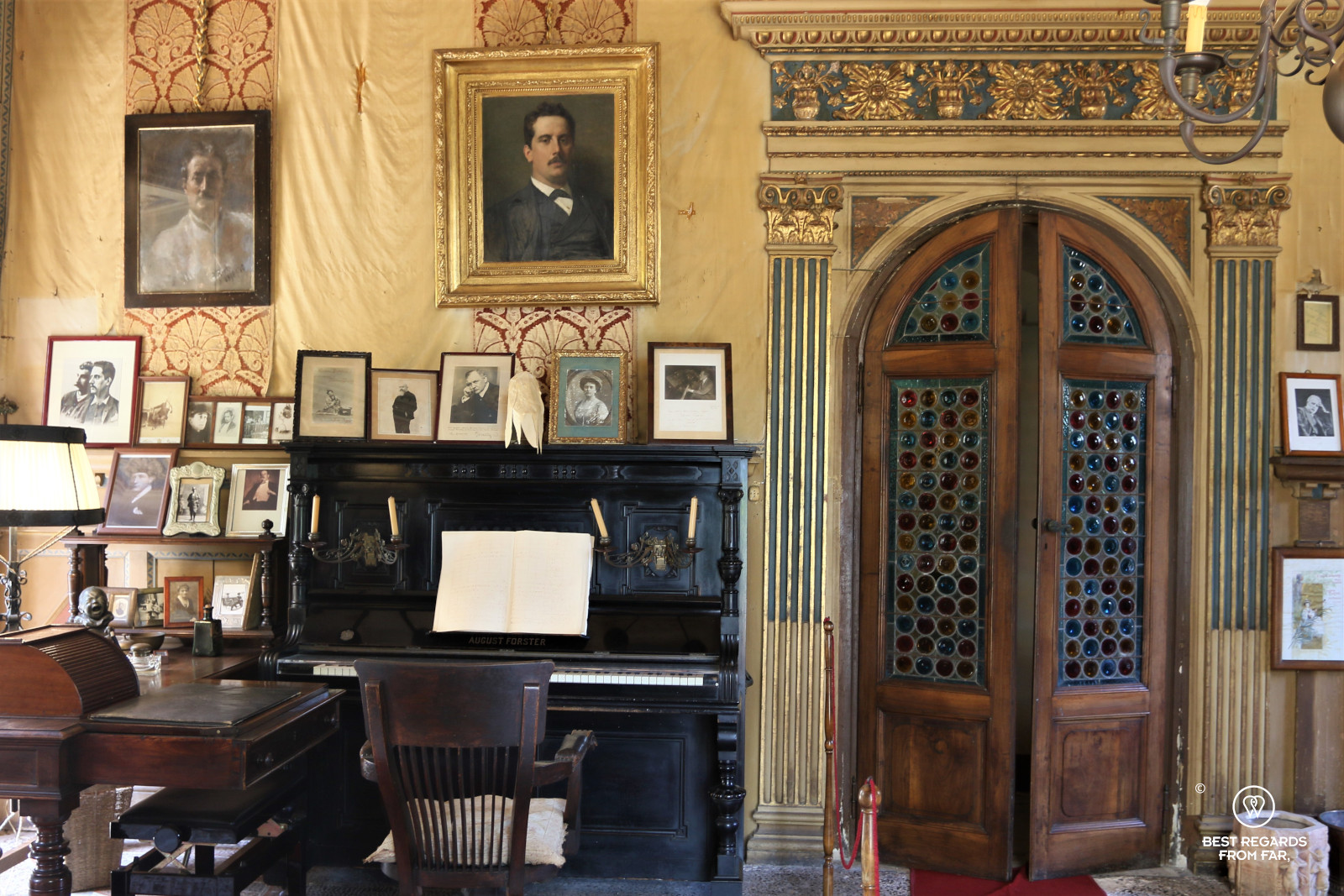The study where Puccini composed in his villa in Torre del Lago, Italy.