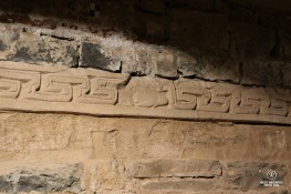 San Fruttuoso: delicate stuccoes of Byzantine origin.
