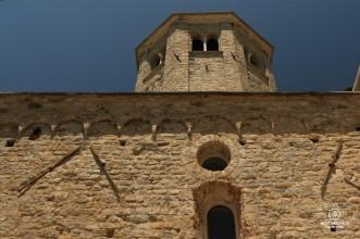 The San Fruttuoso abbey along the Italian Riviera.