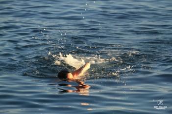 Swimming in the Ligurian Sea - Italy