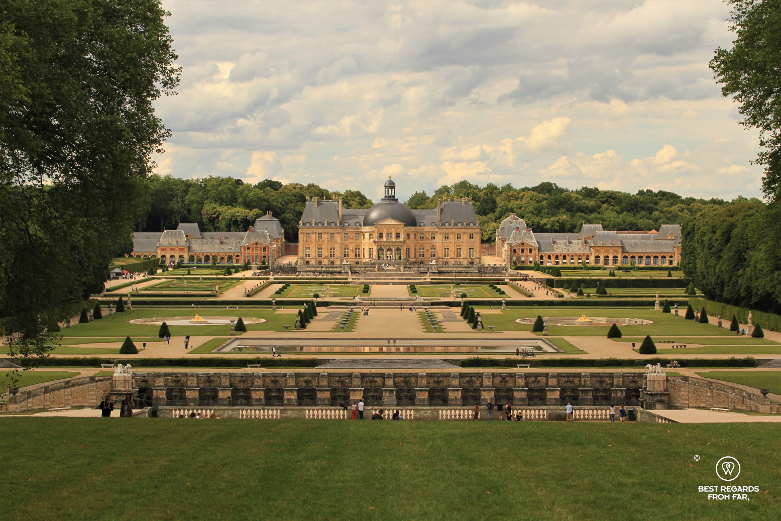 Castle of Vaux-le-Vicomte and its French gardens