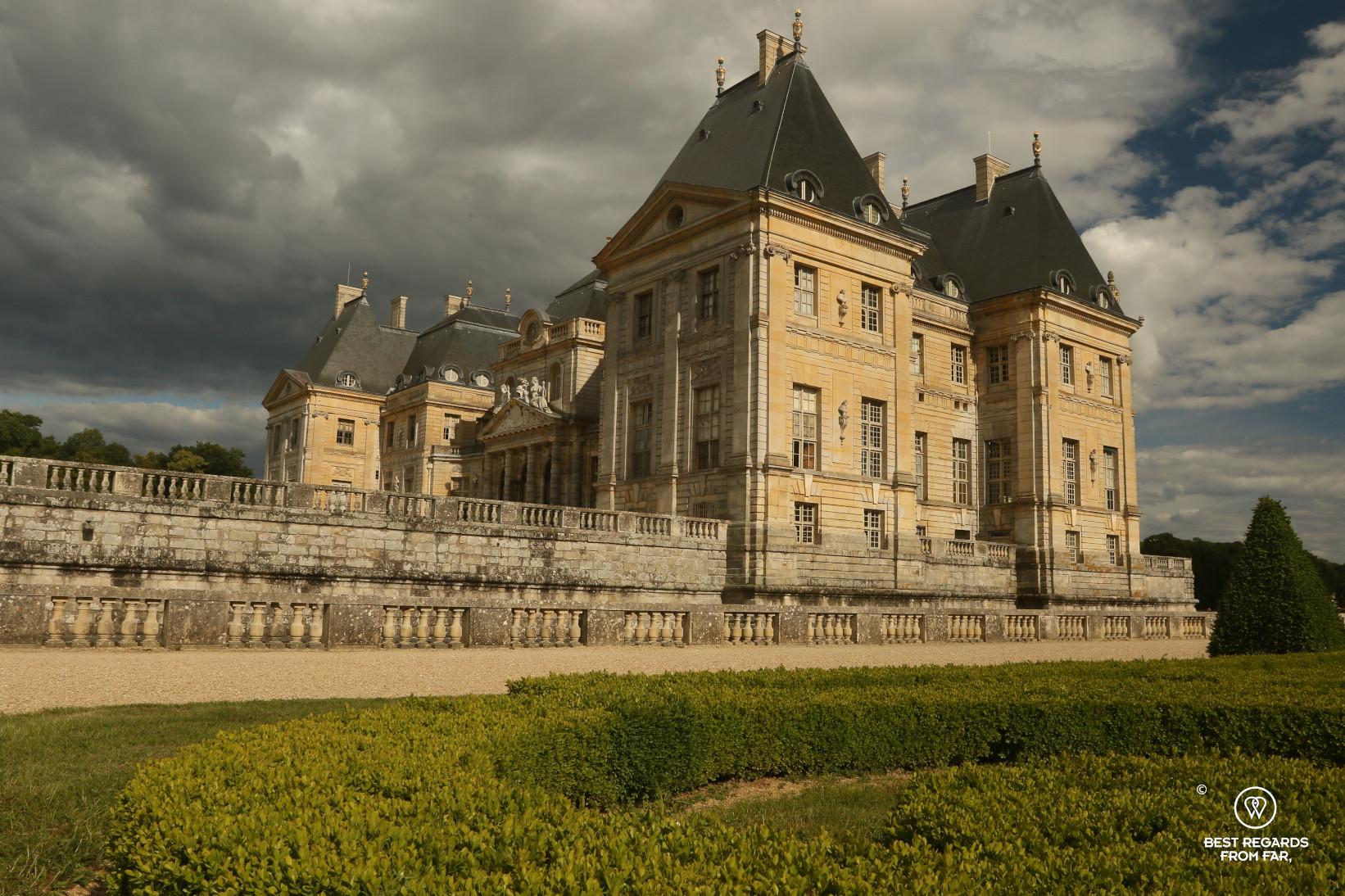 Castle of Vaux-le-Vicomte, France.