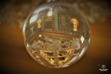 Reflection in a crystal ball in the castle of Vaux le Vicomte, France