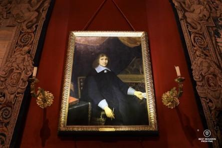Portrait of Nicolas Fouquet in his Vaux le Vicomte castle, France