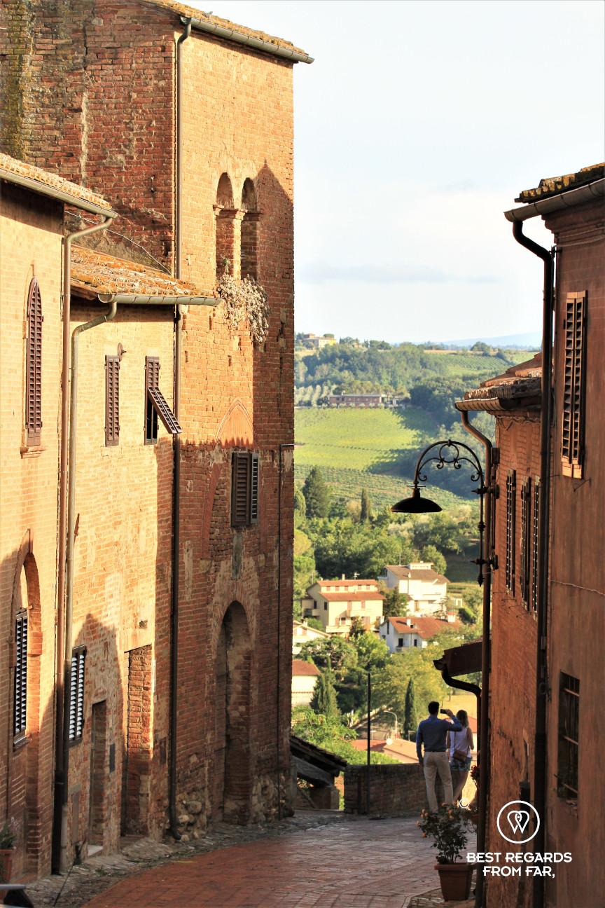 A street in Certaldo, Tuscany, Italy