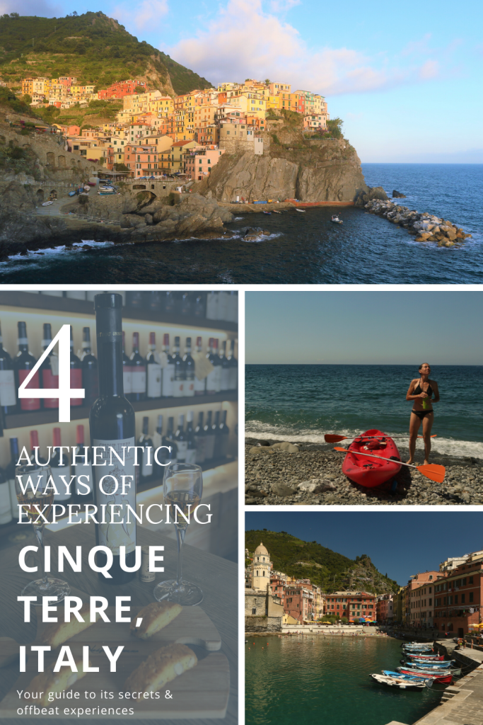Coastal villages with their harbours in Cinque Terre, Italy