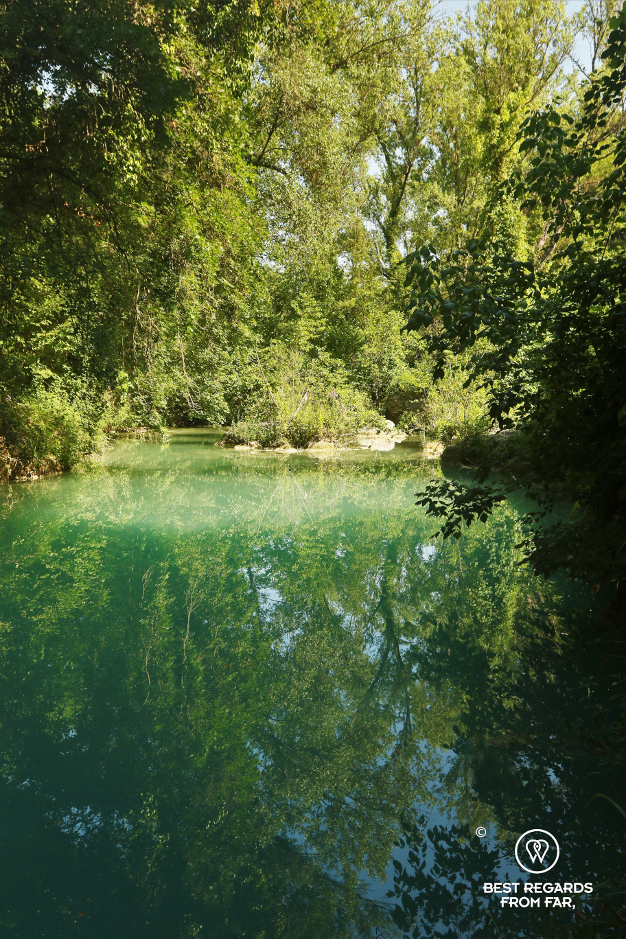 Hiking and swimming the Elsa River, Tuscany, Italy