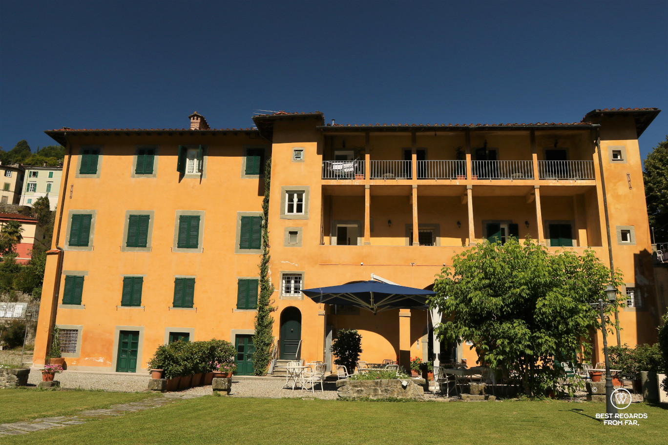 The Park Hotel Regina where Puccini used to stay in Bagni di Lucca, Italy.