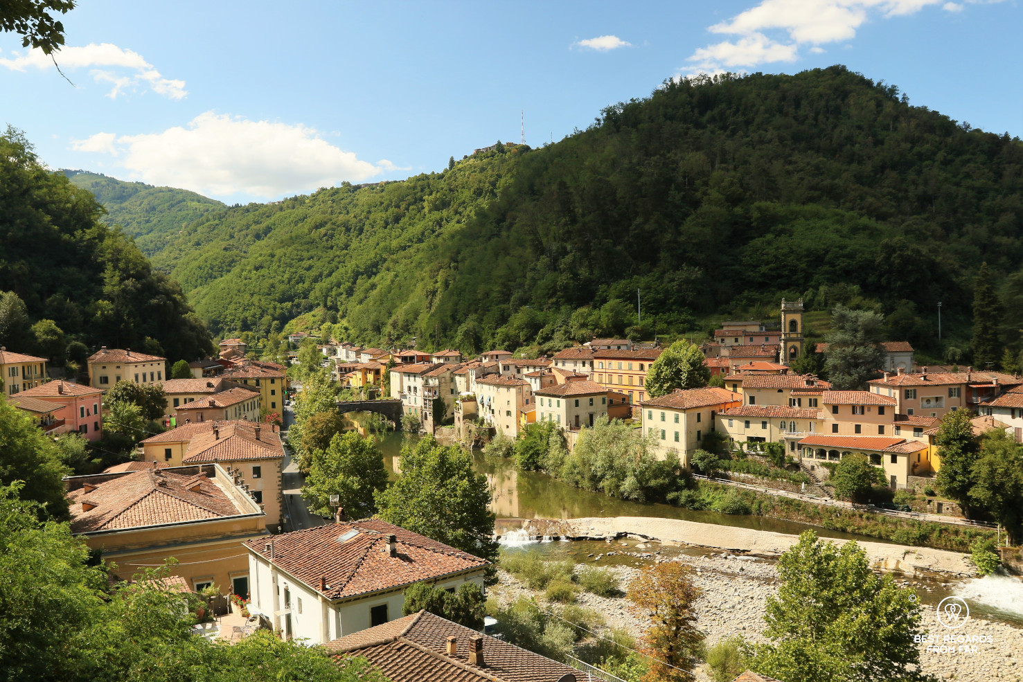 View on Bagni di Lucca, Italy