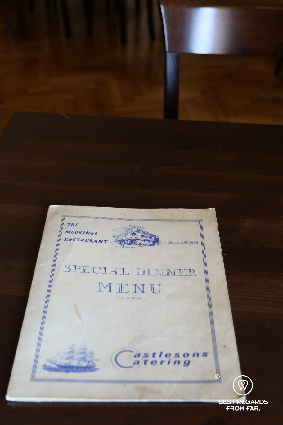 The original Scottish menu that is at the origin of the splendid Villa Moorings in Barga, Italy!