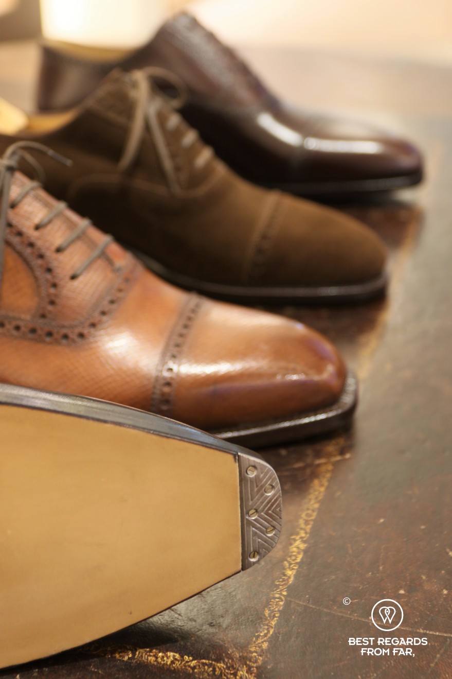 The crafts of Florence: Stefano Bemer leather shoes.